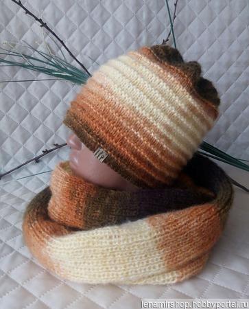 Комплект из шапки и снуда ручной работы на заказ