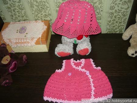 Платье новорожденной девочке ручной работы на заказ