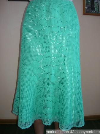 Ажурная юбка крючком ручной работы на заказ