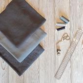 Набор тканей флис серый