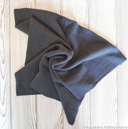 Набор тканей флис серый ручной работы на заказ