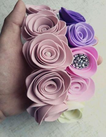 Ободок с розами ручной работы на заказ