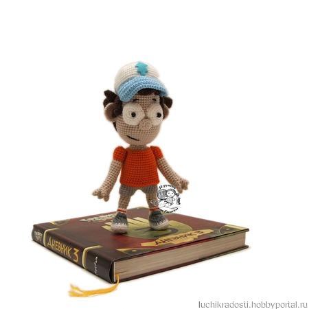 Вязаная игрушка Диппер из Гравити Фолз ручной работы на заказ