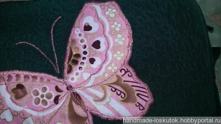 """Косметичка """"Бабочки"""" размер 21х15х6 см ручной работы на заказ"""