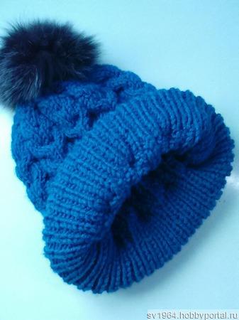 Вязаная шапочка ручной работы на заказ