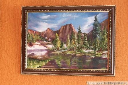 """Картина """"Озеро Лазурное"""" ручной работы на заказ"""