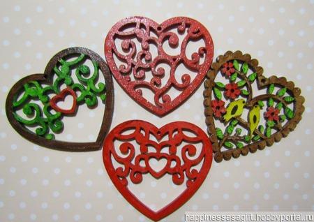 Деревянные валентинки ручной работы на заказ