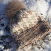 Жаккардовая шапка