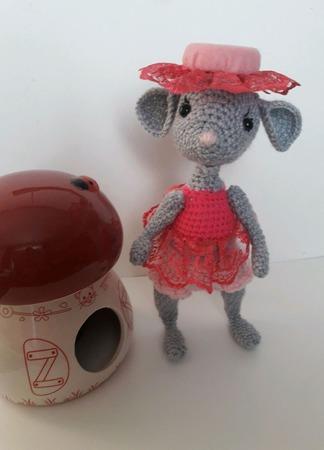 Мышь Анюта. ручной работы на заказ