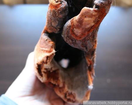 Дерево оранжевое морское дрифтвуд арт-объект 6 ручной работы на заказ