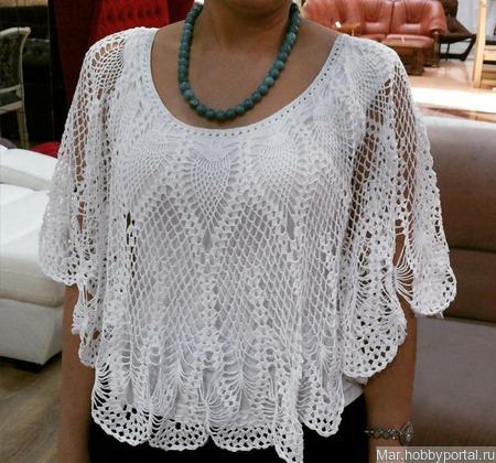 Блузка ручной работы на заказ