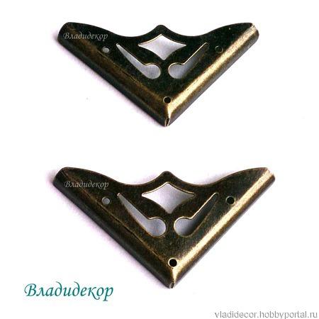 Уголки фурнитура шкатулки  М-65 декор угла ручной работы на заказ