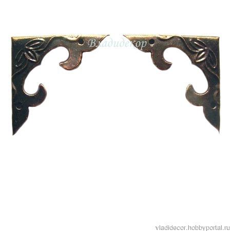 Уголки фурнитура шкатулки  М-157 декор угла ручной работы на заказ