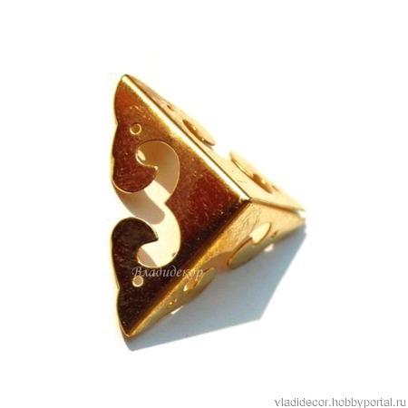 Уголки фурнитура шкатулки М-30 бронза золото ручной работы на заказ