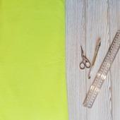 Флис ткань неоновый салатовый желто-зеленый