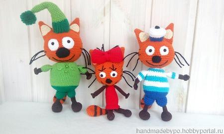 Три кота (Коржик, Карамелька, Компот) ручной работы на заказ