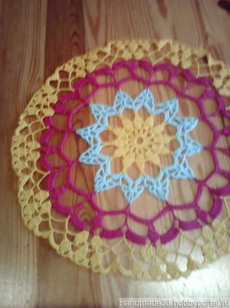 Салфетка ажурная цветная ручной работы на заказ