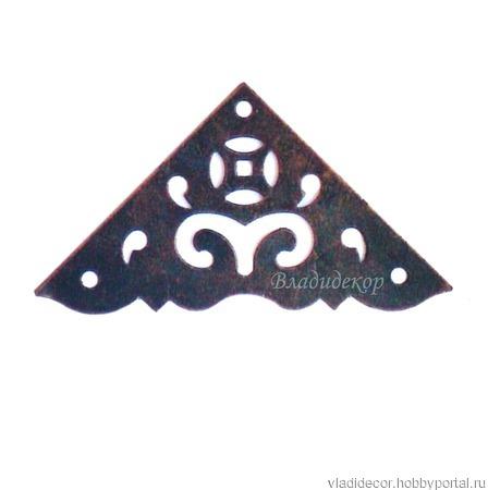 Уголок накладка шкатулки М-97 уголки декор ручной работы на заказ