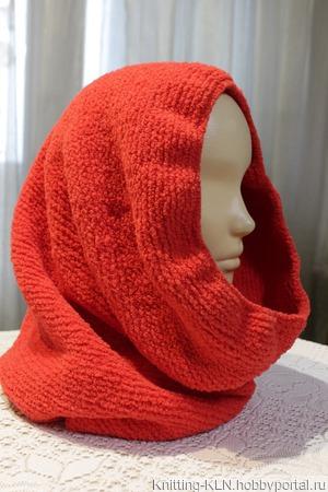 Снуд и повязка на голову из плюшевой пряжи ручной работы на заказ