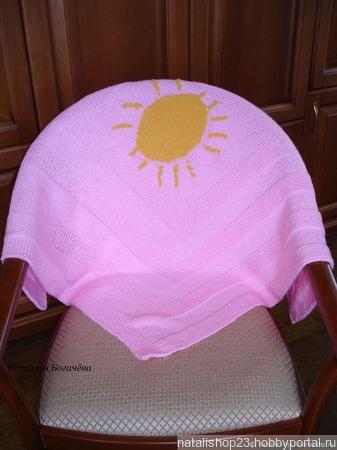 """Плед детский """"Солнышко ручной работы на заказ"""