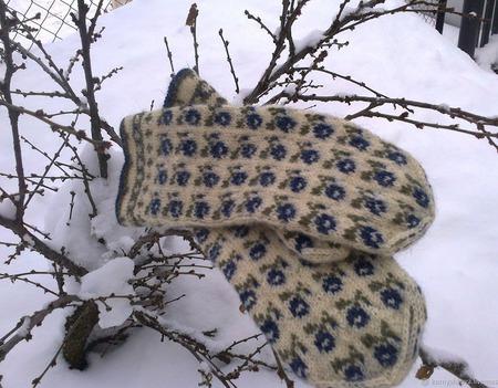 """Варежки в латышском стиле серия """"Северные ягоды"""" ручной работы на заказ"""