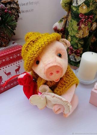 Свинка Новогодняя ручной работы на заказ