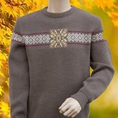 Мужской свитер с орнаментом