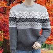 Мужской свитер с геометрическим орнаментом