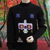 Мужской этнический свитер