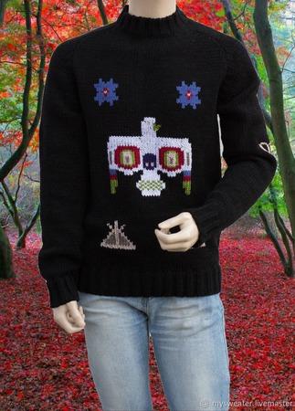Мужской этнический свитер ручной работы на заказ