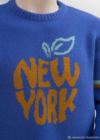 Мужской свитер Нью Йорк ручной работы на заказ