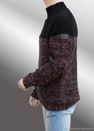 Брутальный мужской свитер ручной работы на заказ