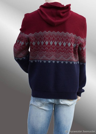 Мужской свитер с капюшоном ручной работы на заказ
