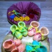 Валяные пинетки для новорожденных