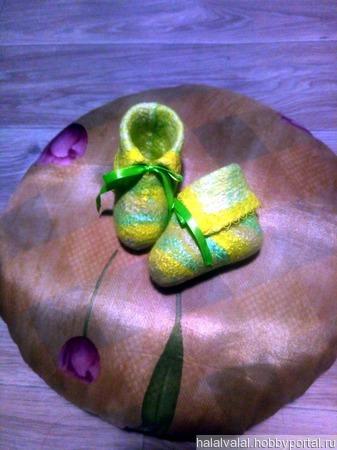 Валяные пинетки для новорожденных ручной работы на заказ