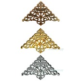 Филигрань декор уголки Ф-40 бронза золото