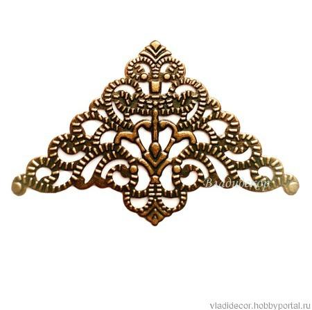 Филигрань декор уголки Ф-40 бронза золото серебро ручной работы на заказ