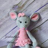 Мышка плюшевая