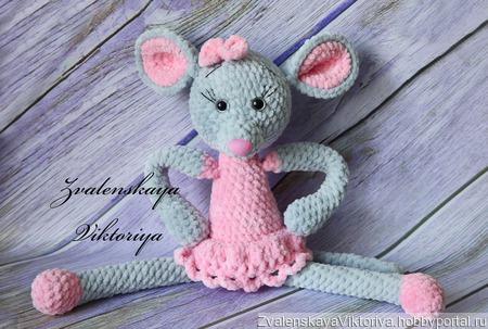 Мышка плюшевая ручной работы на заказ