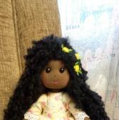Текстильная куколка негритянка