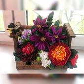 Цветы в корзиночке