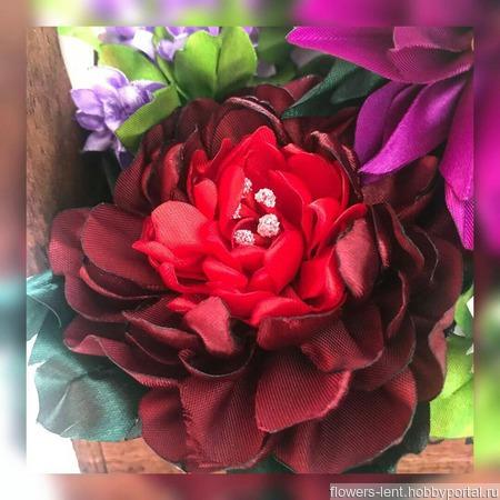 Цветы в корзиночке ручной работы на заказ