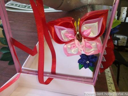 Букет-шкатулка с зеркальцем ручной работы на заказ