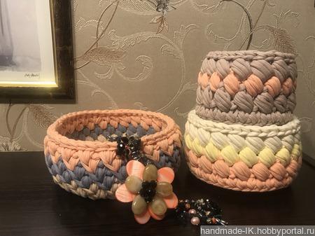 Набор вязанных корзин ручной работы на заказ