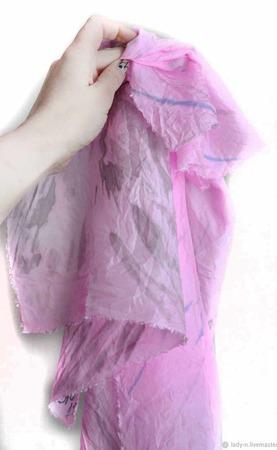 Шелковый шарф палантин батик ручной работы на заказ