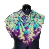 Шёлковый платок женский ручное крашение шибори подарок