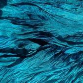 Женский шёлковый шарф-палантин большой сине-зелёный
