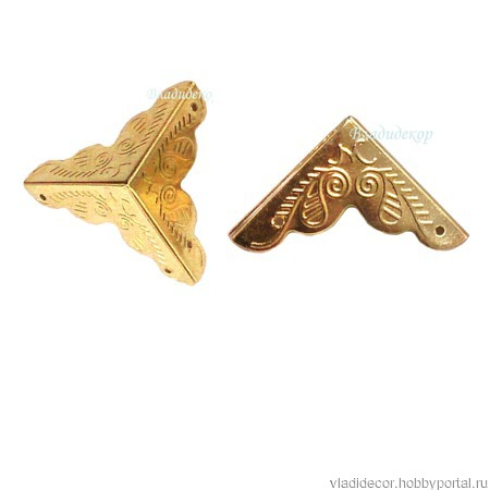 Уголки фурнитура шкатулки М-99 бронза золото серебро ручной работы на заказ