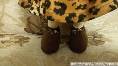 Куколка в леопардовом платье ручной работы на заказ