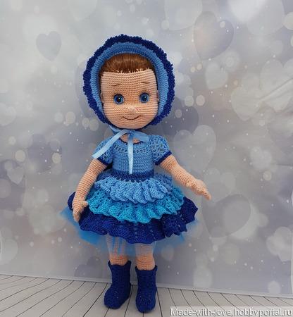 Куколка в синем ручной работы на заказ